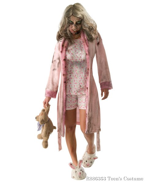 Walking Dead Little Girl Zombie Pajamas Costume Teen