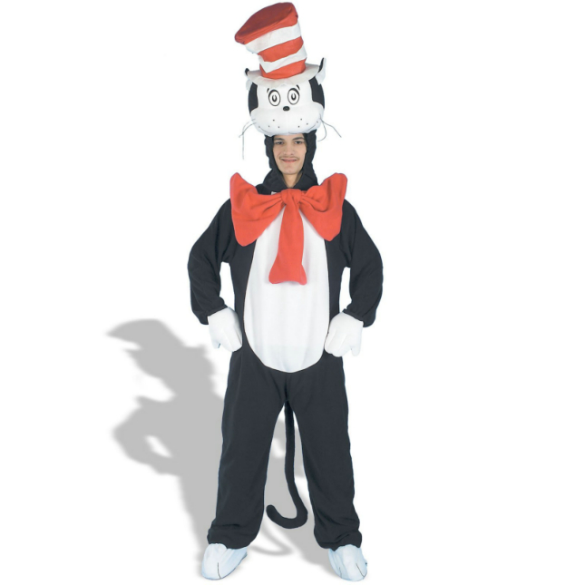 Cat In The Hat Plush Deluxe Adult Costume