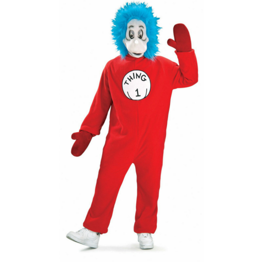 Dr. Seuss Cat In The Hat - Thing 1 Mascot Adult Costume