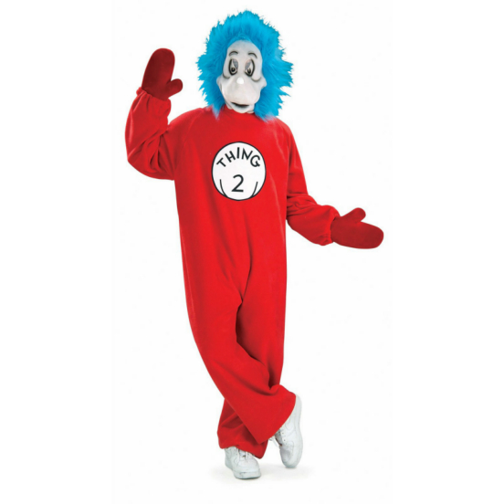 Dr. Seuss Cat In The Hat - Thing 2 Mascot Adult Costume