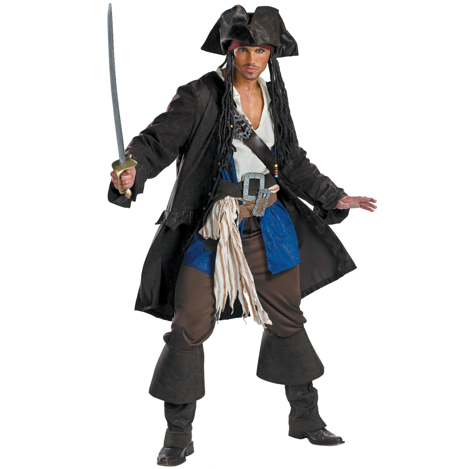 Pirates of the Caribbean 3 Captain Jack Sparrow Prestige Adult (