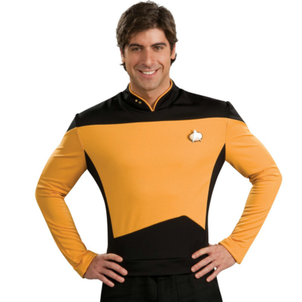 Star Trek Next Generation Gold Shirt Deluxe Adult Costume