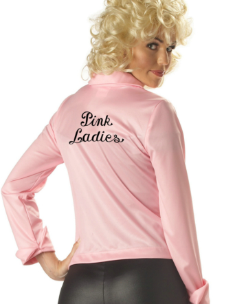 Pink Ladies Jacket Adult Costume - Click Image to Close