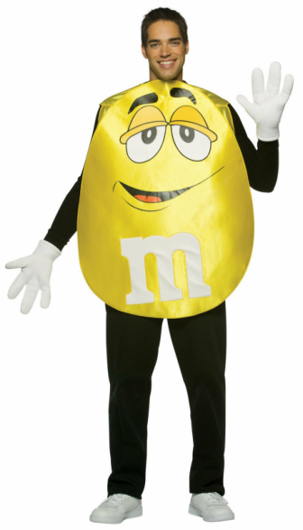M&Ms Yellow Poncho Adult Costume