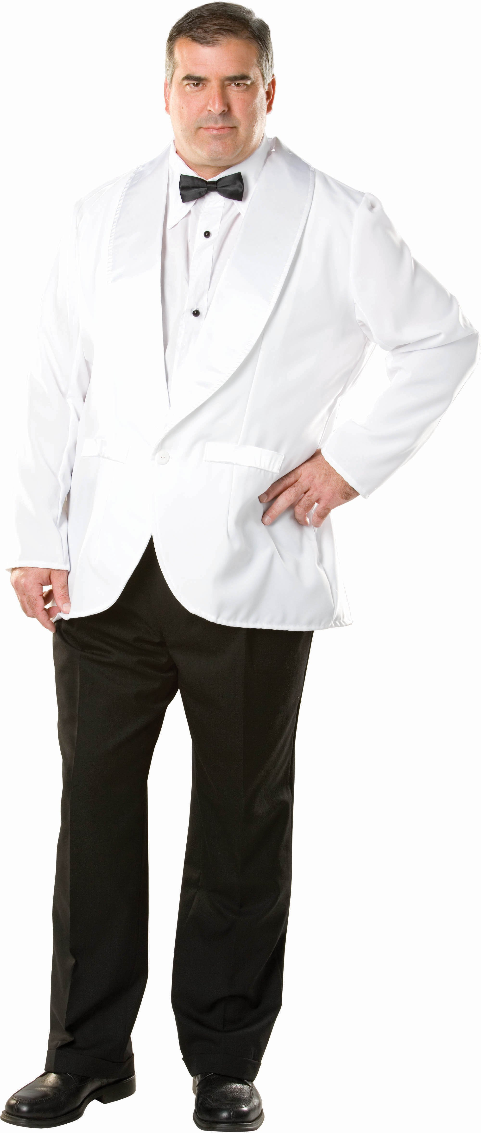 White Dinner Jacket Adult Plus Costume - DO NOT ACTIVATE