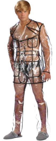 Bruno 2009 - Clear Vinyl Suit Adult Costume
