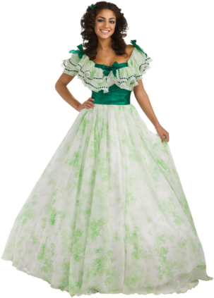 Gone With The Wind - Scarlet Picnic Dress Adult Costume