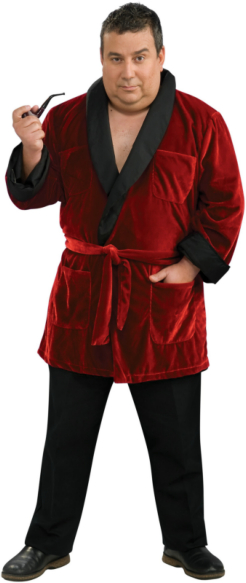 Playboy Hugh Hefner Robe Plus Adult Costume