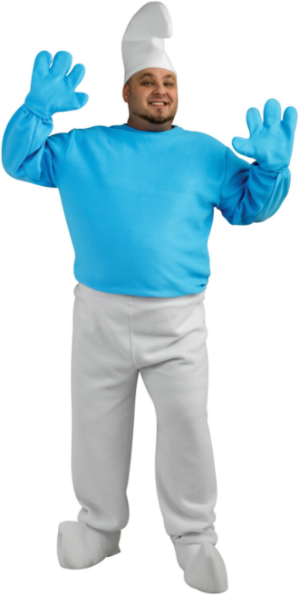 The Smurfs - Deluxe Smurf Plus Adult Costume