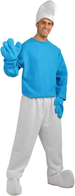 The Smurfs - Deluxe Smurf Adult Costume