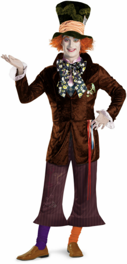 Alice In Wonderland Movie Prestige Mad Hatter Adult Costume