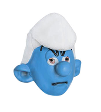 Grouchy Smurf Mask