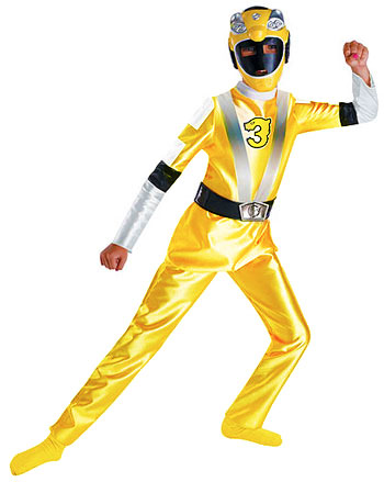 Kids Yellow Power Ranger Costume