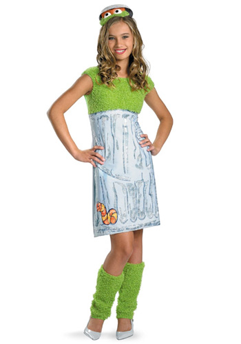 Teen Girls Oscar the Grouch Costume