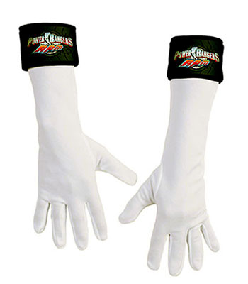 White Power Ranger Gloves