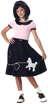 50's Hop with Poodle Skirt Child Costume