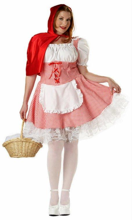 Miss Red Riding Hood Plus Size Adult Costume