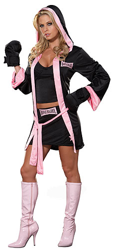 Boxer Girl Costume - Click Image to Close