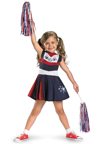 Girls Toddler Cheerleader Costume