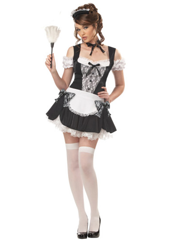 Plus Sexy French Kiss Maid Costume
