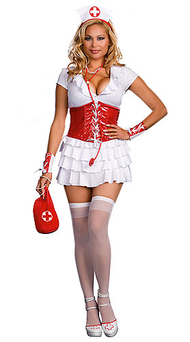 Plus Size RN Trouble Nurse Costume