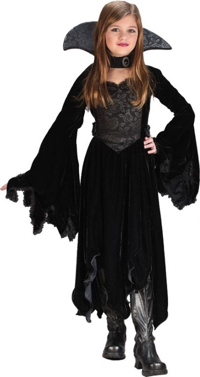 Black Rose Vampiress Child Costume