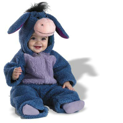 Baby Eeyore Plush Bodysuit Infant/Toddler Costume