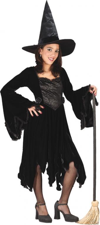 Black Rose Witch Child Costume