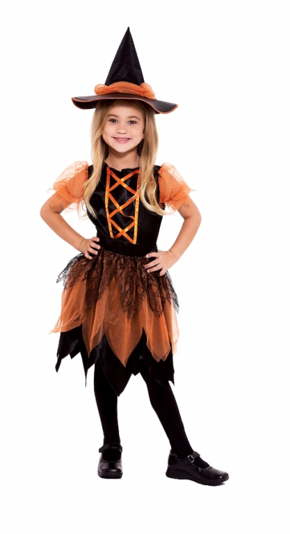 Pumpkin Patch Witch Child Costume Medium