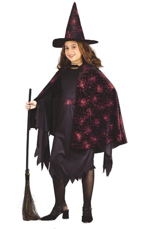Witch Glitter Chip Child Costume