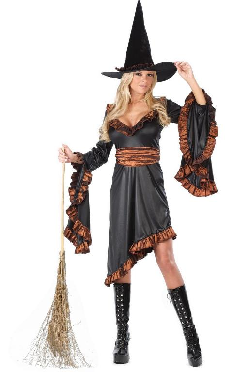 Ruffle Witch Adult Costume