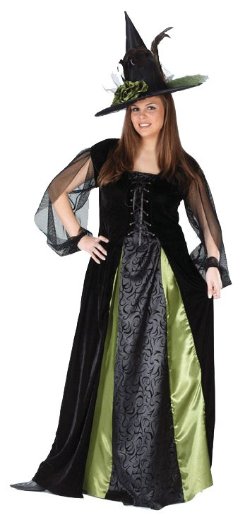 Goth Maiden Witch Plus Adult Costume