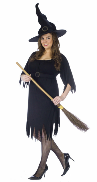 Tattered Witch Adult Plus Costume