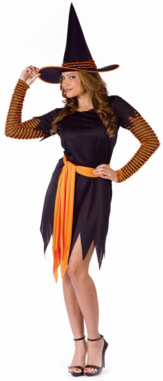 Pumpkin Patch Witch Adult Costume