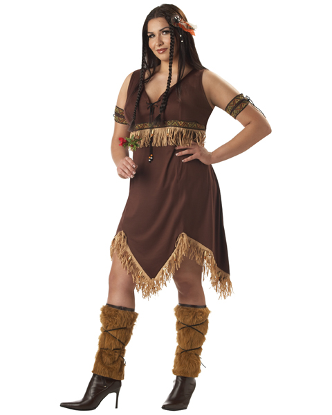 Adult Plus Size Indian Princess Costume