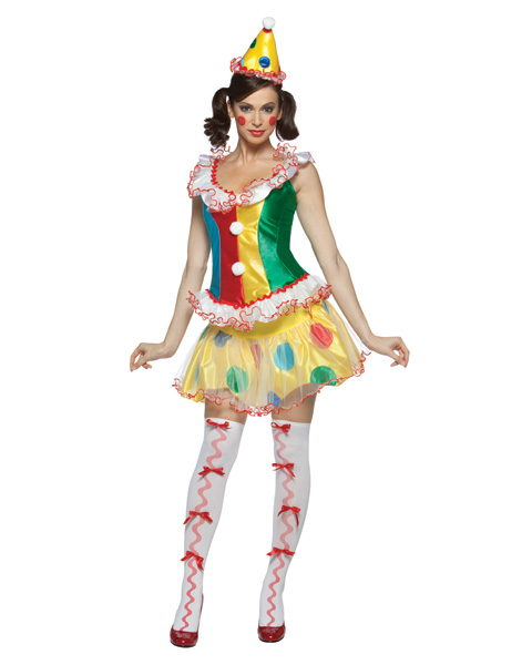 Ruffles The Party Clown Womens Costume