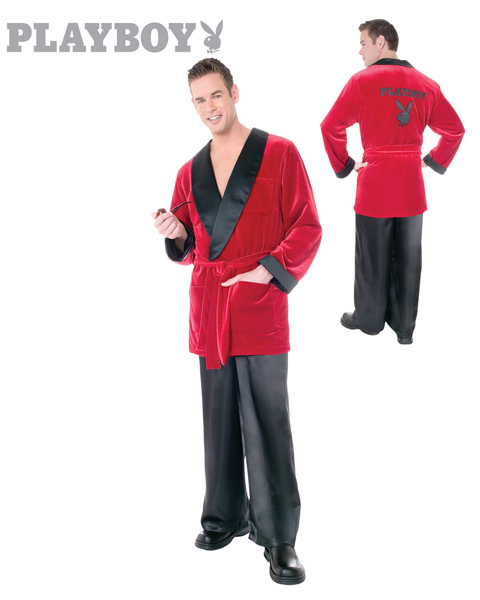 Playboy Smoking Jacket Costume for Adults