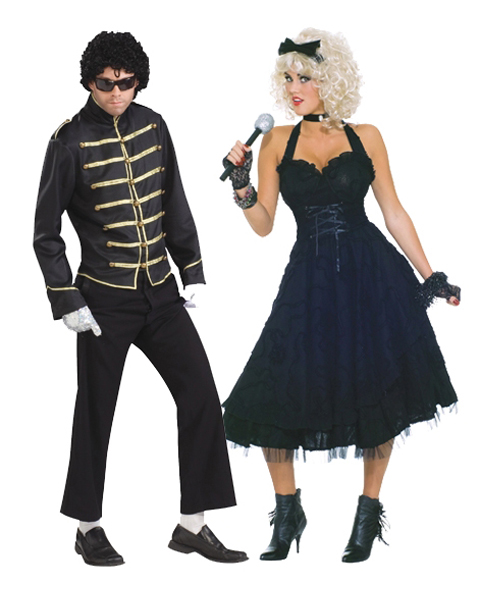 Material Girlie Adult Couples Costume