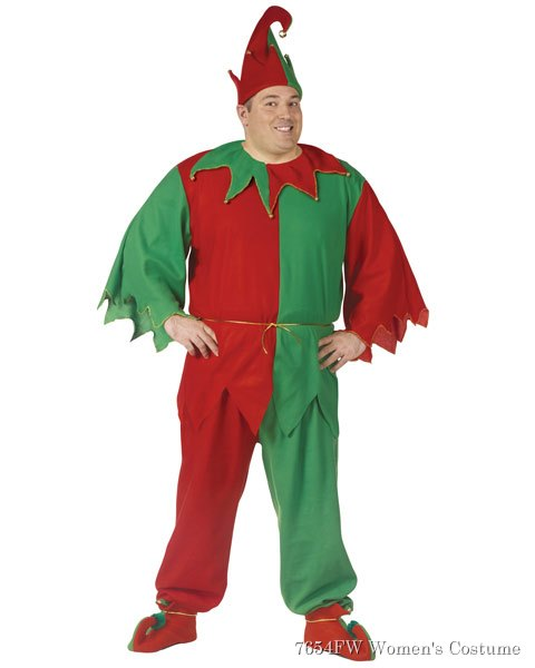 Adult Plus Size Complete Elf Costume