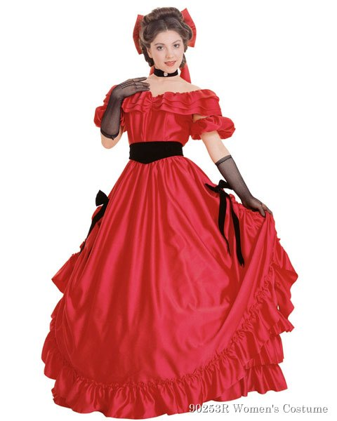 Red Southern Belle Womens Costume