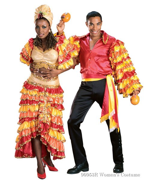 Deluxe Rumba Girl Multi Color Womens Costume
