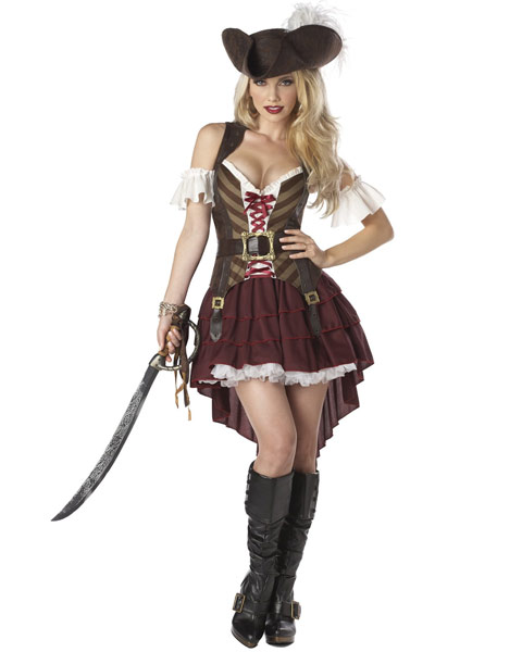 Sexy Plus Size Pirate Swashbuckler Womens Costume