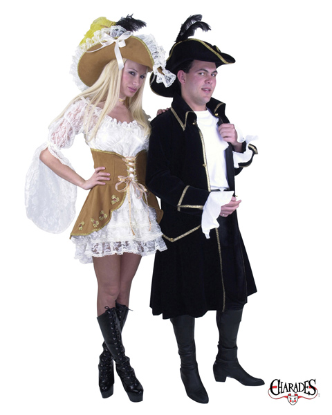 Adult Suede and Lace Pirate Costume