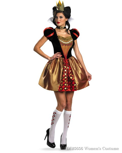 Sexy Disney Alice In Wonderland Red Queen Adult Costume