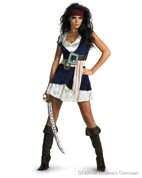 Pirates Of The Caribbean Jack Sparrow Womens Costume