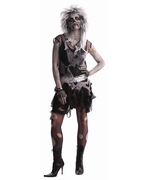Punk Zombie Womens Costume
