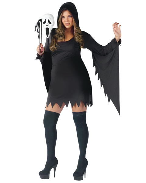 Plus Size Ghost Face Female Womens Costume