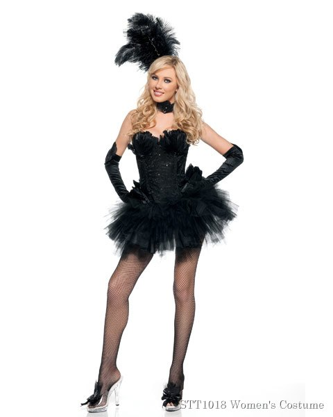 Deluxe Sexy Black Swan Womens Costume